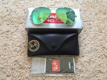 Green Aviator Flash Ray Bans in Camp Lejeune, North Carolina