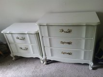 Vintage French Provincial 3 Drawer Dresser 2 Drawer Nightstand Set in Houston, Texas