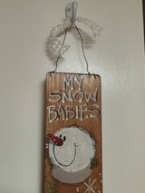 Snow Babies Wooden Wall Hanging in Alamogordo, New Mexico