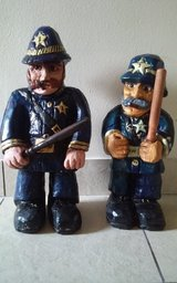 2 Police Statuettes in Houston, Texas
