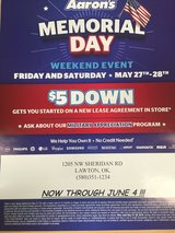 MEMORIAL EVENT SALE in Lawton, Oklahoma