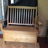 Solid Oak Bench with Storage in Tinley Park, Illinois