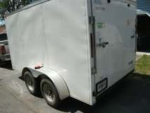 2014 CYNERGY  7 X 12 DUAL AXLE ENCLOSED TRAILER WITH RAMP DOOR(price reduced) in Perry, Georgia