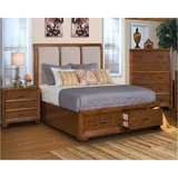 king storage bed with memory foam mattress in Riverside, California