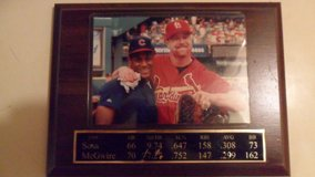 1998 Sosa McGwire photo plaque in Fort Campbell, Kentucky