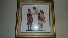 Norman Rockwell framed tile in Fort Campbell, Kentucky