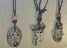 Native Face Pendant Necklaces - Very Popular. Waxed Cord, beaded, adjustable in Conroe, Texas