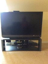 Mitsubishi 1080 tv  with tv stand in Virginia Beach, Virginia