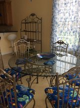 Glass table with 6 chairs and bakers rack in Virginia Beach, Virginia