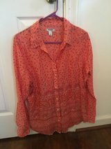 Old Navy Scarf Print Button Down [L] in Beaufort, South Carolina