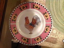 Rooster dinner plate in Byron, Georgia