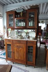 gorgeous Art Nouveau dining room hutch with bevelled glass in Spangdahlem, Germany