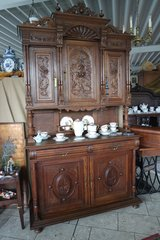 elegant Henri II dining room hutch with rich carvings in Hohenfels, Germany