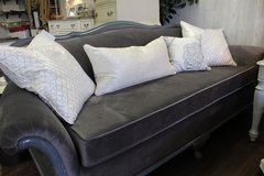 Gray on Gray Modern Vintage Micro suede New Upholstery ! in Naperville, Illinois