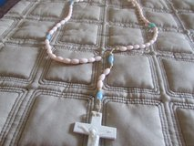 blue and pink rosary in Aurora, Illinois