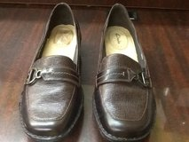 Women's Clarks Brown Leather Loafers 77421 Size 10 in Spring, Texas