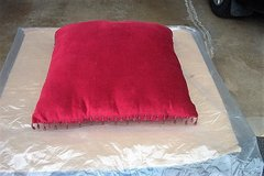 "16"" SQUARE MAROON VELVET PILLOW in Bartlett, Illinois"