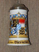 Large Lidded Bavaria Coat of Arms Beer Stein in Stuttgart, GE
