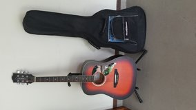 Eko Acoustic Guitar w/ stand and case in Tyndall AFB, Florida