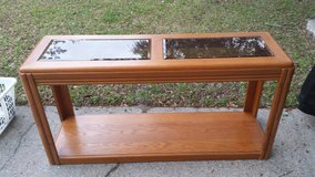 Light Brown Sofa Table (solid wood) in Tyndall AFB, Florida
