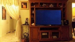 """Solid wood Entertainment center TV """"60 in Fort Polk, Louisiana"""