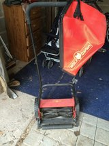 Manual lawnmower with bag in Ramstein, Germany