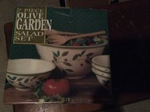 Olive Garden ceramic salad set, big bowl with four small bowls. in Chicago, Illinois