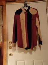 #LS5 SAN ANGELO  MEN'S LONG SLEEVE SHIRT. SIZE XL BLACK/ SAND/RUST in Fort Hood, Texas