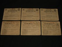 World War II War Ration Books No. 3 and No. 4 (3 of each) in Aurora, Illinois