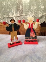Vintage IKEA Swedish man and woman in Ramstein, Germany