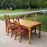 SOLID WOOD FARM TABLE AND 4 CHAIRS in Duncan, Oklahoma
