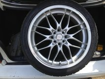 A single 235/40Z R18 Haida Tire mounted on a DC RIM in Fort Campbell, Kentucky