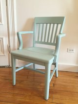 Light Blue Solid Wood Chair in Fort Drum, New York