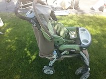 Chicco Keyfit 30 Green/Brown Stroller in Bolingbrook, Illinois