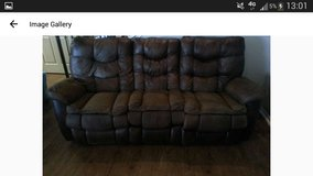 Mixed Faux Leather couch in Fort Bliss, Texas
