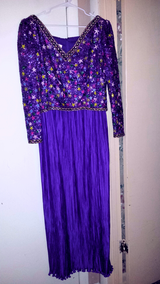 Plum Multicolor Sequin Beaded Evening Gown in Fort Bragg, North Carolina