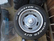 15x8  rally wheels and tires came off my vette 4new rings 3 origanal lot of tread in Yucca Valley, California