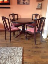 Antique extendable dining table and four chairs in Lakenheath, UK