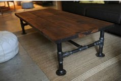 Wood industrial steam punk coffee end dining table coffee steampunk in Camp Lejeune, North Carolina