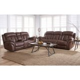 NEW HIGH QUALITY REAL LEATHER SOFA AND LOVE SEAT RECLINER SET in Riverside, California
