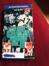nfl's greatest games vol.2 vhs in Clarksville, Tennessee