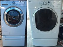 Washer And Dryer ( Electric 220V ) FRONT LOADER ( Both With PEDESTAL DRAWER ) in Camp Pendleton, California