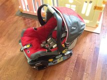 Chicco Keyfit 30 Infant car seat in red and grey in Conroe, Texas