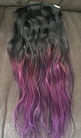 New Brown hair extensions, clip in, purple hombre in Vista, California