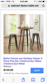 Bistro Dining Table  w/ Barstools (brand new) in Lake Charles, Louisiana