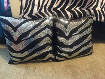 Zebra striped throw pillows in Travis AFB, California