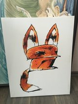 Fox Print on Canvas in Ramstein, Germany