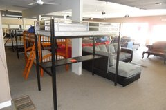 Twin loft bed with mattress in Fort Knox, Kentucky