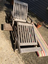 Chaise Lounge with Cute Striped Cover in Aurora, Illinois