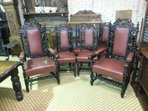 Set of 8 Carved Oak Chairs others available, free delivery in Lakenheath, UK